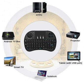 Mini Wireless Keyboard 2.4 Ghz Touchpad มีพิมพ์ภาษาไทยบนตัว สำหรับAndroid tv box , mini pc, windows ( สีดำ) (image 4)