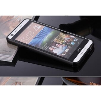 Mirror Metal Frame with Bear ring phone case for HTC Desire820(Black) - intl ...