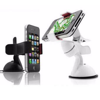 MK SHOP Universal Car Windshield Mount Holder For iPhone6S 6 5S 5C5G 4S iPod GPS Samsung BK (white)