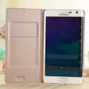 Mobile Phone Leather Wallet Flip Case Cover with Card Slot forSamsung Galaxy Note Edge N9150 - intl
