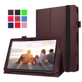 Moonmini PU Leather Cover for Lenovo MIIX 310 10.1 inch (Brown) - intl