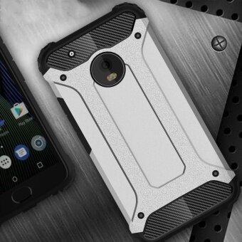 Moto G5 Plus Case Armor Series Shock-proof Impact HardPolycarbonate Cover + Inner Soft Rubber 2 in 1 Rugged Case forMotorola Moto G5 Plus - intl - 2