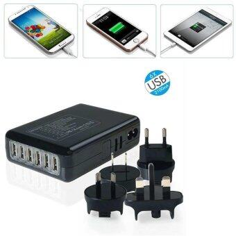 Harga Multi Port USB Charger 6 Ports Adapter AC Power with UK/EU/US/AU Plug - intl