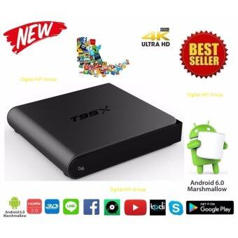 MXQ M8S Android Smart TV Box T95X UHD 4K 64Bit Cpu Ram2G Android Marshmallow 6.0