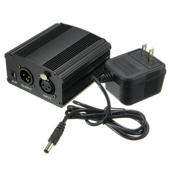 New 48V Phantom Power Supply with Adapter for Condenser Microphone US plug - intl