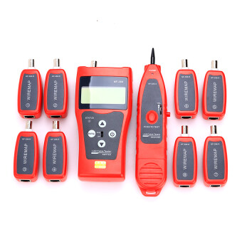 NF-388 Multipurpose Handheld Network Coax Cable Tester Trace Cat66E Cat5E Coaxial Cable Tracker USB BNC RJ45 RJ11 Tester NetworkCable Ethernet Wire Tester Telephone Cable Tester Audio Cable -Intl