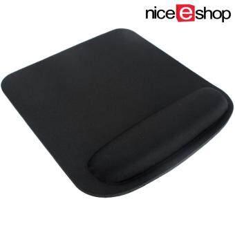 niceEshop รูปทรงสี่เหลี่ยมผืนผ้าหนาเบาะมือหนูหนูเหลือเสื่อโฟม สีดำ