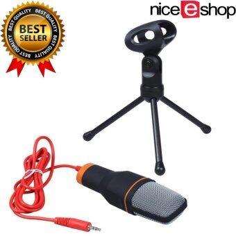 niceEshop มืออาชีพ Condenserพอดคาสต์สตูดิโอบันทึกเสียงไมโครโฟนสำหรับเครื่องคอมพิวเตอร์แล็ปท็อป(สีดำ)