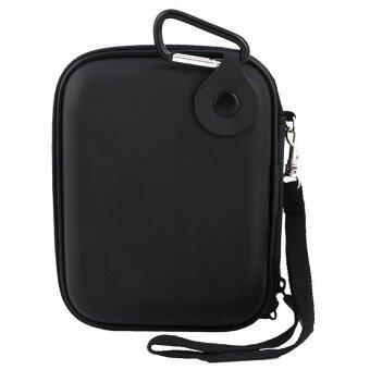 niceEshop EVAกระเป๋ากันน้ำกันกระแทกถือกระเป๋าหนักกระเป๋าเคสท่องเที่ยวสำหรับฮาร์ดไดรฟ์แบบพกพานอกจีพีเอสกล้อง และนอกแพ็คแบตเตอรี่ สีดำ