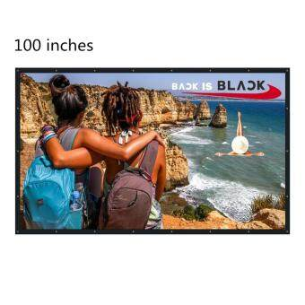 NIERBO 100 Inch 16:9 Collapsible PVC HD Portable Home and OutdoorProjector Screen Movies Screen for Front Projection (100) - intl