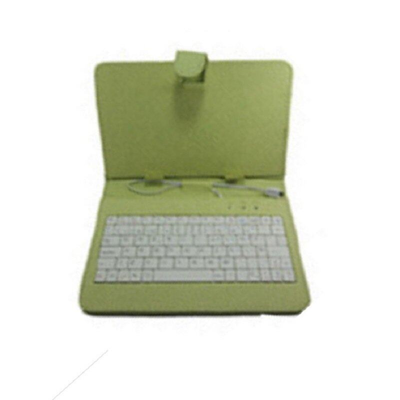 Nonglak Leather Hard cas e 7.7 with Micro USB Keyboard -Green