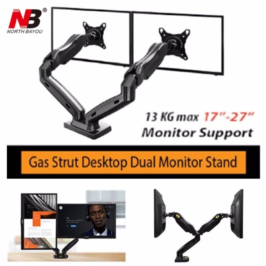 North Bayou NB F160 by Mastersat ขาตั้งจอ แบบ Dual  Gas Strut Desktop Dual LCD , LED Monitor Stand , LCD Stand, ขาแขวนจอ lcd ,led แบบ 2 จอ รองรับจอ 17