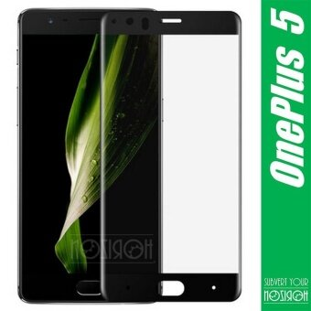NOZIROH OnePlus 5 Tempered Glass 3D Curved Full Coverage ScreenProtector Shockproof Anti Burst - intl