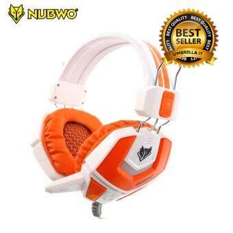 ประเทศไทย Nubwo Eyborg Gaming Headset หูฟัง เกมมิ่ง รุ่น NO-4000 (สีขาว) + Nubwo Headset Stand ขาตั้งหูฟัง รุ่น HS-01