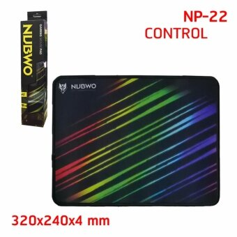 แผ่นรองเมาส์สำหรับเล่นเกมส์ NUBWO Mouse pad 320x240x0.4 MM รุ่น NP-22S