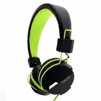 ราคา OKER หูฟังแบบครอบหู สำหรับมือถือ/คอม รุ่น SM-852 (Green)