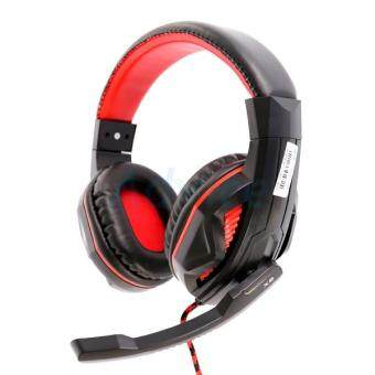 ประเทศไทย OKER Speaker HeadSet X2 (Black/Red)