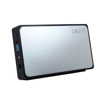 OKER USB 3.0 SATA External Hard Drive Enclosure 3.5 รุ่น ST- 3565(Silver/Black)