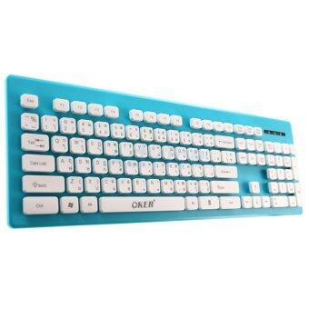 ประเทศไทย OKER USB Keyboard (KB-188) Blue