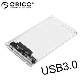 ORICO 2139U3 2.5-Inch SATA 3.0 to USB 3.0 Hard Drive Disk Box HDDExternal Enclosure SATA HDD and SSD -Transparent แบบใส