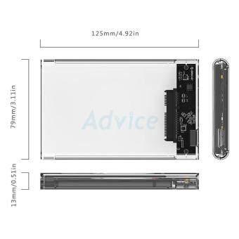 ประกาศขาย ORICO Enclosure 2.5'' SATA รุ่น 2139U3 USB3 (Clear)