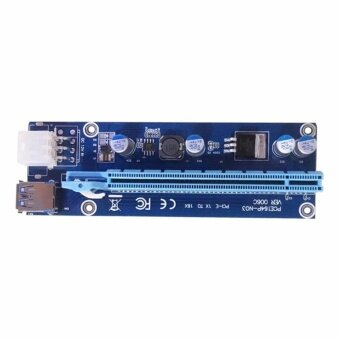 PCI-E 1X to 16X Riser Card 6 Pin to SATA Power Supply USB3.0 Cable60cm for bitcoin miners