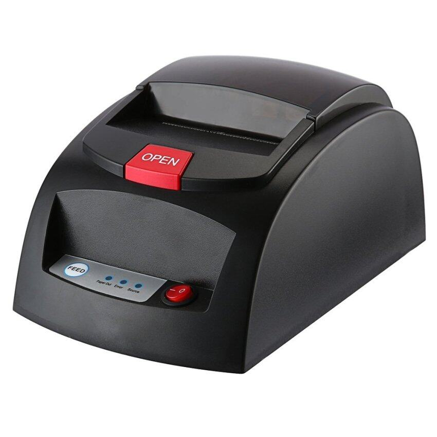 Portable Mini 48mm POS Receipt Thermal Printer with USB Port (US PLUG) (Black) - intl