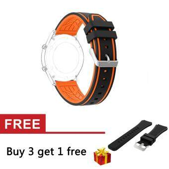 Premium Silicone Band Strap Extremely Durable For Samsung GalaxyGear S3 Classic SM-R770 S3 Frontier SM-R760 SM-R765 Smart Watch -intl