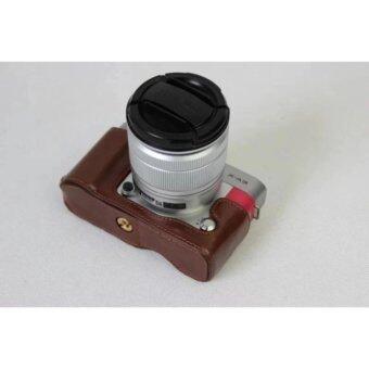 PU Leather Cover Camera Bag Bottom Case Half Body Set Cover For FujiFilm Fuji X-A3 XA3 XA10 With Bottom Opening - intl
