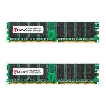 QUMOX แรม 2GB DDR 400MHz PC-3200 (184 PIN) DIMM (2x 1GB)
