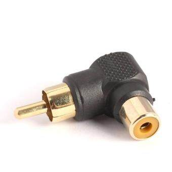 RCA Male to Female M/F Connector 90 Right-angle Adapter Audio AV Plug