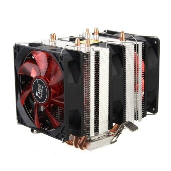 Red LED 3 CPU Cooling Cooler Fan Heatsink for AMD AM2 2 AM3 .