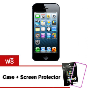 REFURBISHED Apple iPhone5 32 GB Black Free Case+ScreenProtector
