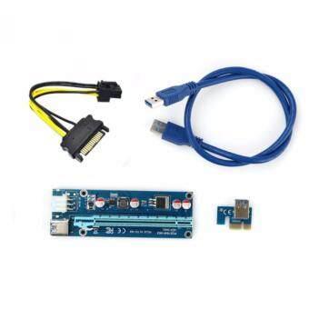 ราคา ไรเซอร์ สาย Riser แบบหัวต่อ 6 Pin USB 3.0 PCI-E Express 1x to 16x