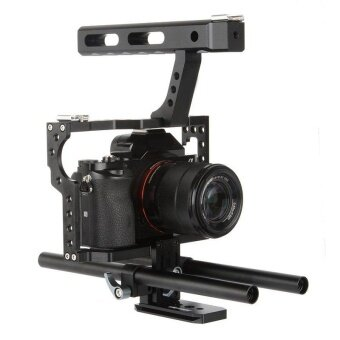 Rod Rig Camera Video Cage Handle Grip Fits for DSLR Sony A7 A7r A7sII A6300 - intl