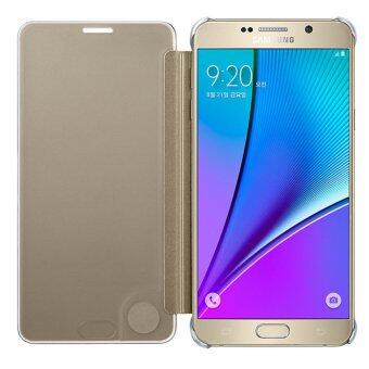S-View Flip Cover Clear View Cover Case for Samsung Galaxy Note 5(Gold) - intl - 4