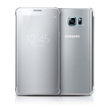 S-View Flip Cover Clear View Cover Case for Samsung Galaxy Note 5(silver)