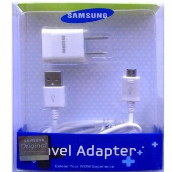 Samsung ชาร์ต+สายGalaxy J1/J2/J5/J7 Micro USB Data Cable + HomeWall Charger (สีขาว)