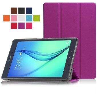 Samsung Galaxy Tab A 8.0 SM-T350 8-Inch Tablet Case - PU Leather Hard Shell Multi-Angle Stand Auto Sleep Wake Magnetic Smart Cover (Purple)(Intl)