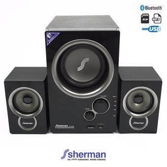 Sherman ชุดลำโพง Active 2.1 Ch (Bluetooth) รุ่น SB-33B2B (สีดำ)
