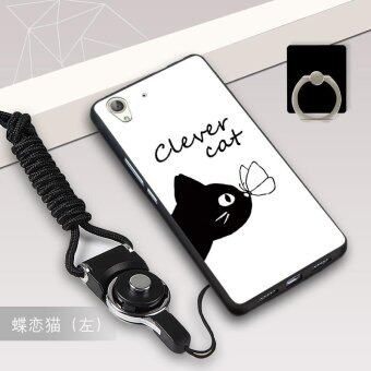 Silica Gel Soft Phone Case for Huawei Y6 II Huawei Honor 5A with aRope and a