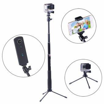 Smatree SmaPole Q3 Telescoping Selfie Stick with Tripod Stand forGoPro Hero 5/4/3+/3/2/1/Session Cameras, Ricoh Theta S, M15Cameras, Compact Cameras and Cell Phones
