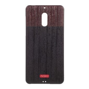 Soft Embossed TPU Mobile Phone Casing for Nokia 6 - Wood - intl