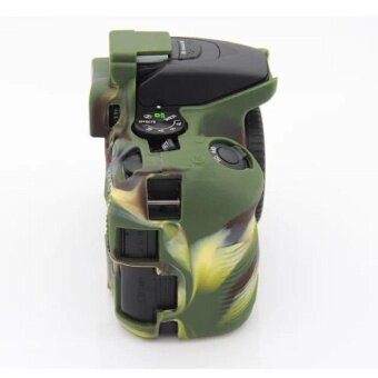 Soft Silicone Gel Rubber Camera Case Cover for NikonD5500/D5600(Green) - intl - 5