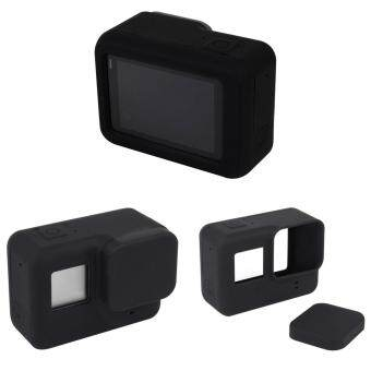 Soft Silicone Protective Cover Case + Lens Cap Guard For GoPro Hero5 Black