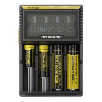 Startup NITECORE D4 LCD Screen Digicharger Charger For AA AAA 1865014500 Battery (Black)