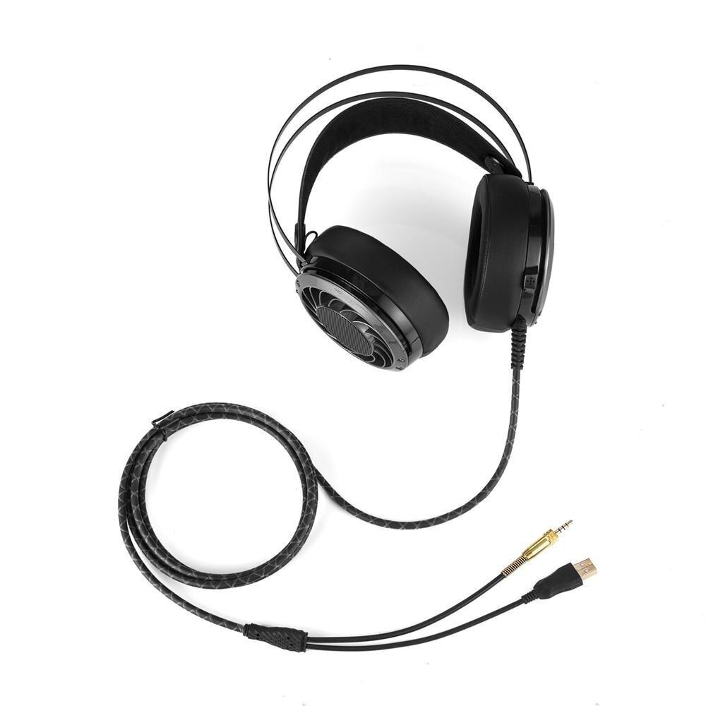 Cheer Siberia V10 Stereo Headset Gaming Telepon Kepala Dikelilingi Steelseries P300 Ps4 Ps3 Mobile Pc Mac Hitam Headband Notebook Pro Microphone Intl