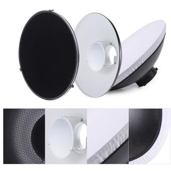 Studio Photography 41cm/16 Inch Speedlite Strobe Lighting Diffuser Beauty Dish Lampshade Bowens Mount with Reflector Honeycomb Soft Cloth - intl - 5