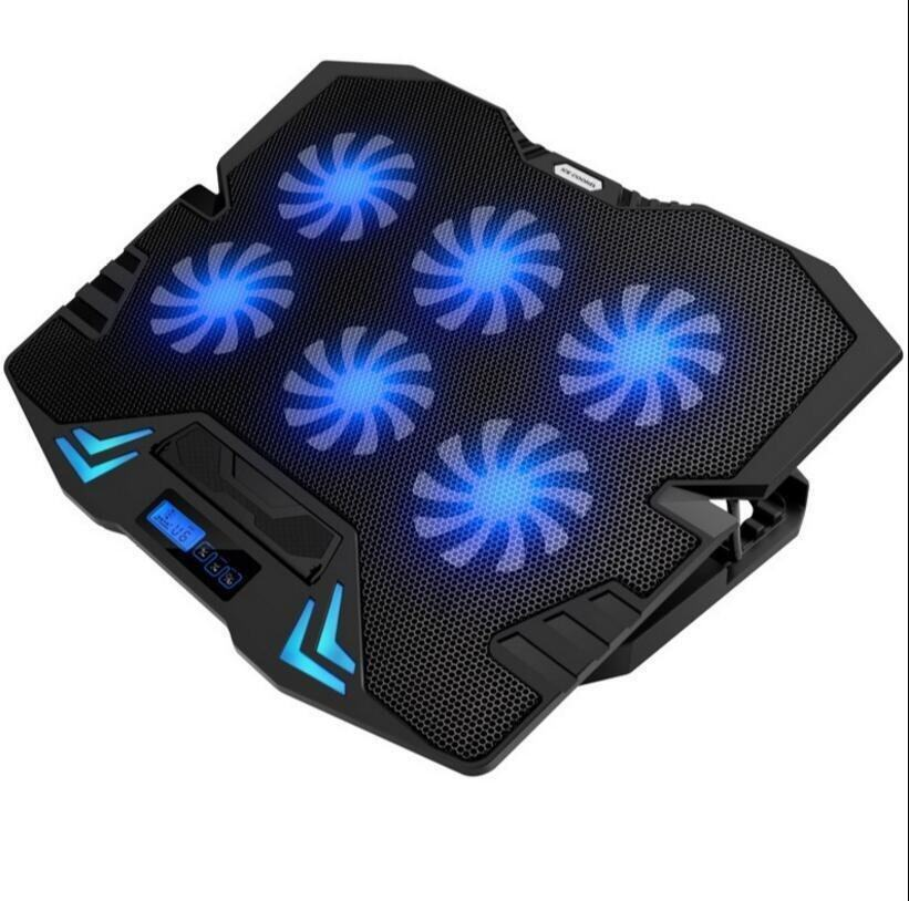 Super Power Laptop Cooling Pad SIX Fans Super Mute Protect Laptop Never Get Hurt And Prolong USe Time Play Game All Day Come Ture - intl