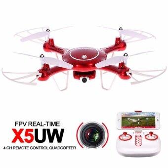 SYMA X5-UW FPV WiFi Drone โดรนบินถ่ายภาพ ดูภาพผ่านสดผ่านสมาร์ทโฟน รุ่นราคาถูก (สีแดง / สีทอง)